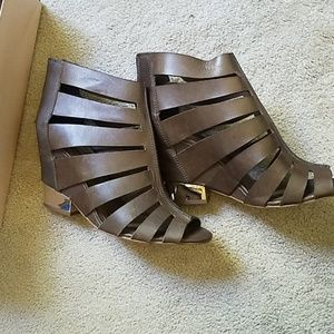 BCBG..brown leather sandals